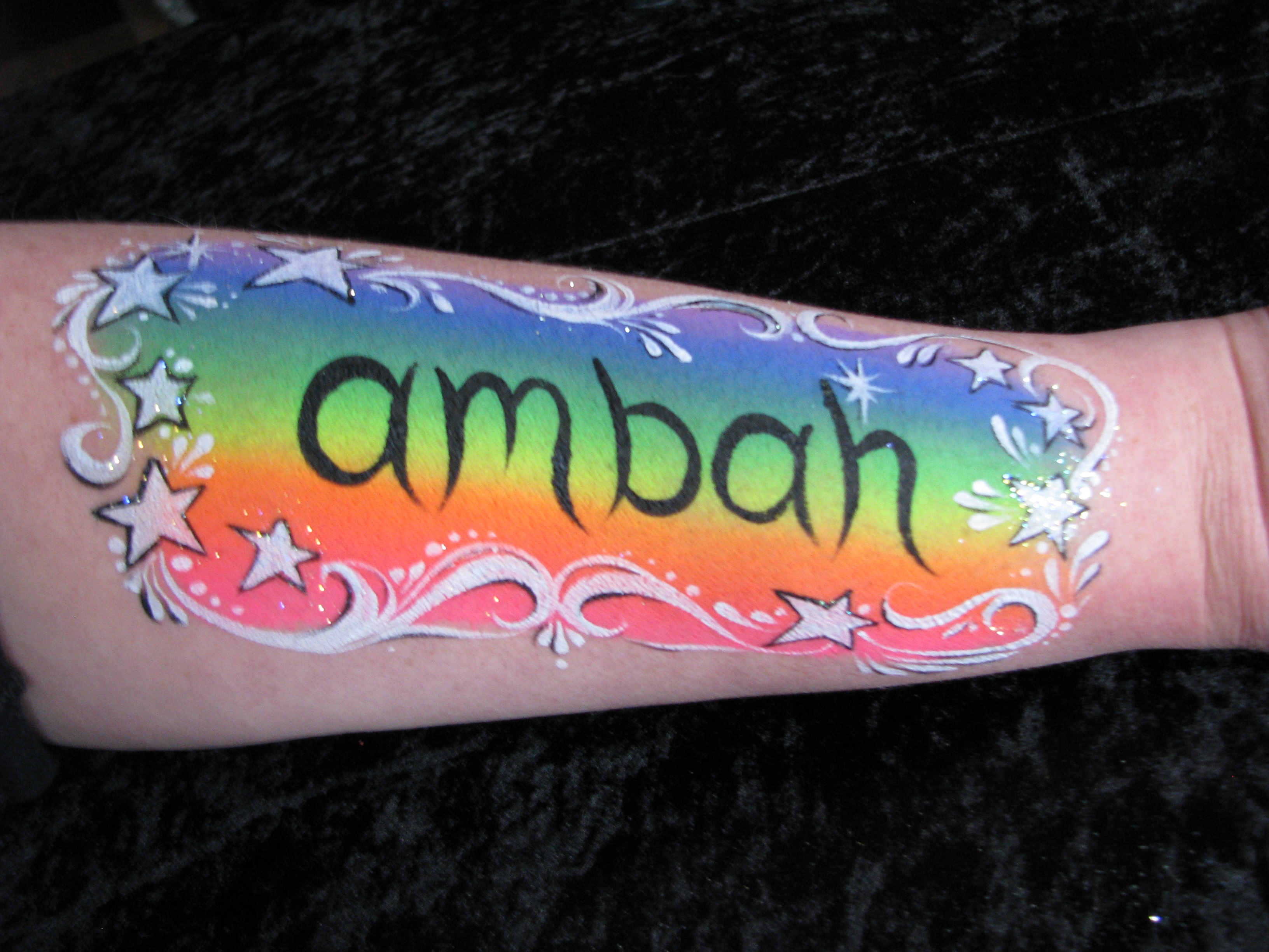 Rainbow Name Design Step by Step | Face Paint Shop Online