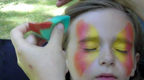 Butterfly Face Painting Design Step 2