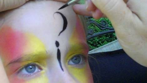 Butterfly Face Painting Design Step 3