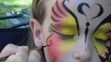 Butterfly Face Painting Design Step 7