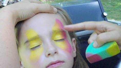 Butterfly Face Painting Design Step 1