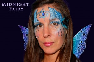Midnight Fairy Face Painting Design for Halloween