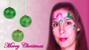 Christmas Face Painting Design Mask Tutorial