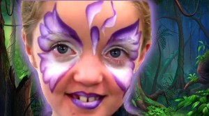 Butterfly Face Painting with Tag Body Art 1Stroke Iris