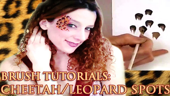 Cheetah face painting BRUSH-TUTORIAL