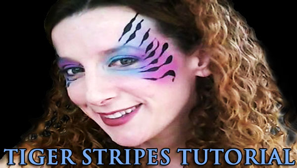 TIGER STRIPES TUTORIAL FOR FACE PAINTERS