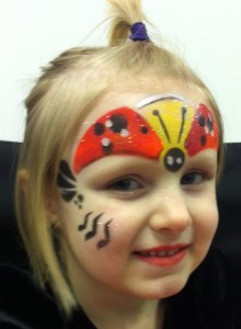 Ladybug Face Paint Tutorial With Stencil Eyes Face Paint