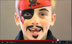 Pirate Face Paint Video Tutorial