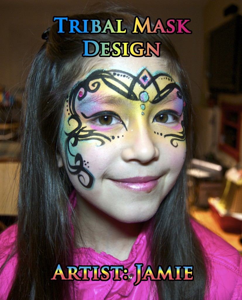 Tribal Mask Face Painting Design VIDEO Tutorial | Face ...