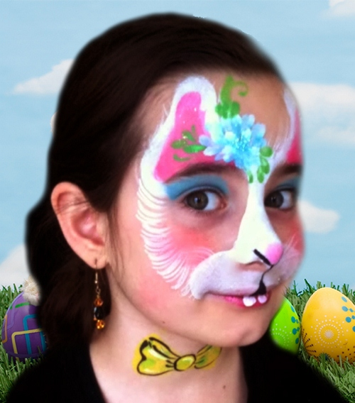 Easter Bunny Face Paint Design VIDEO Tutorial Face Paint Shop Online