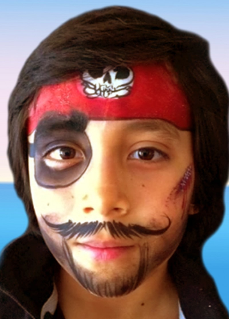 Pirate Face Painting Stencils
