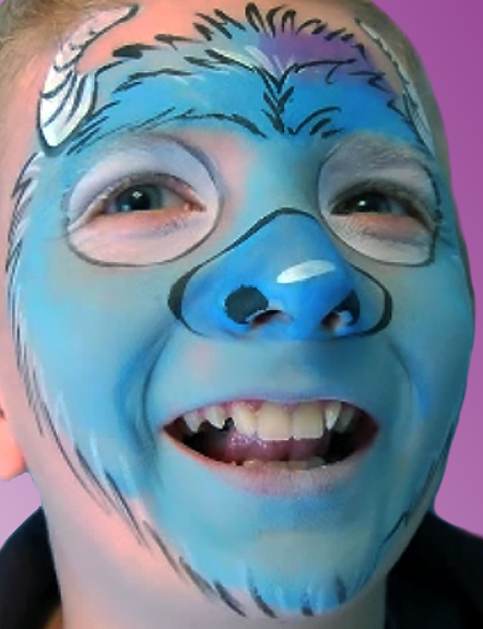 Monsters University Inspired Face Paint Design Video