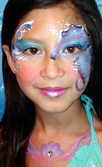 Seahorse Face Paint Design Video Tutorial Face Paint
