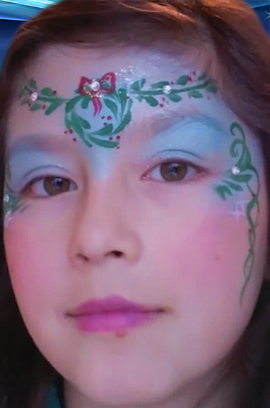 Wreath Mask Face Paint Design VIDEO Tutorial