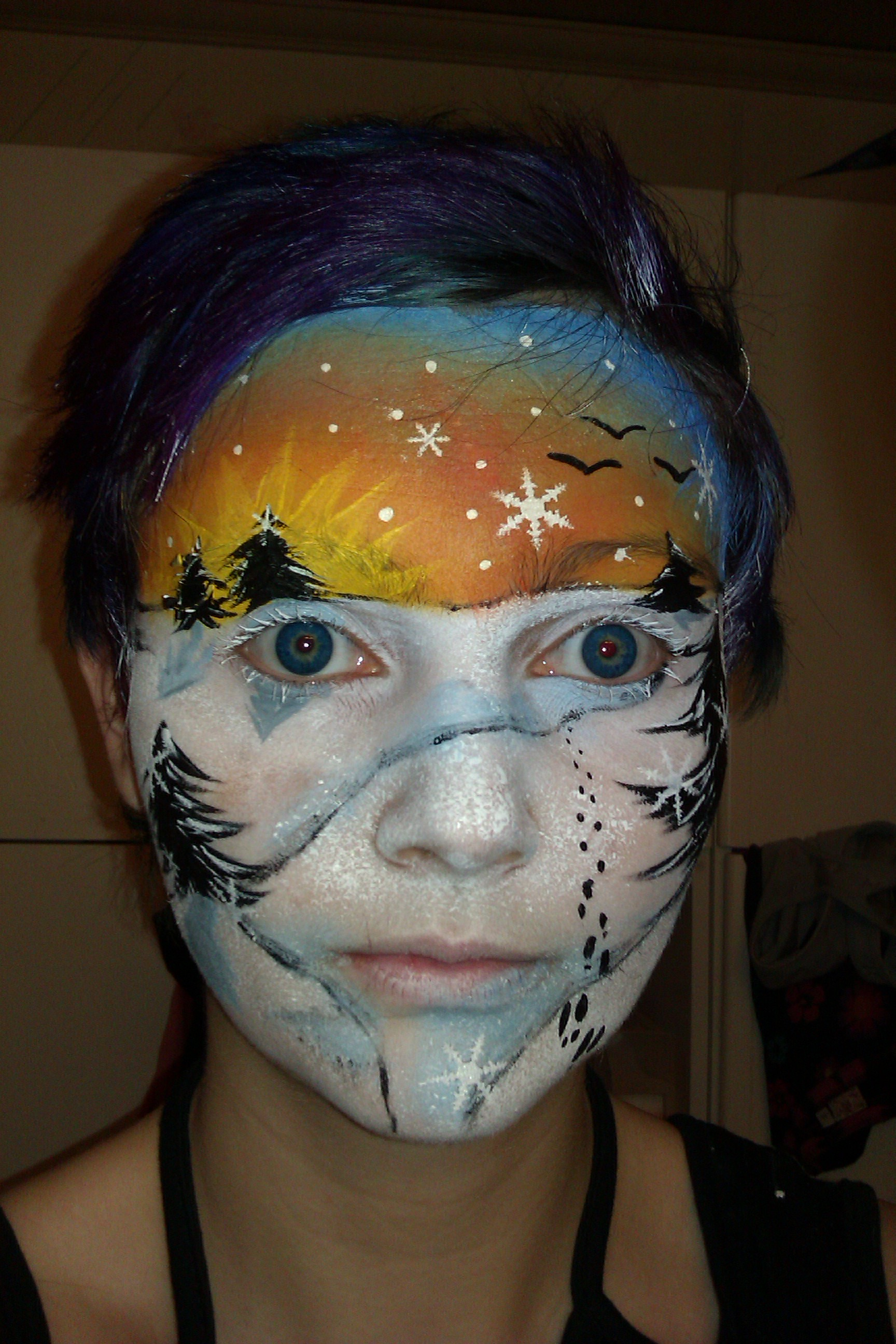 snowflake competition winners face paint shop online