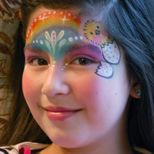 Easter Rainbow Face Paint Design Step-By-Step Tutorial | Face ...