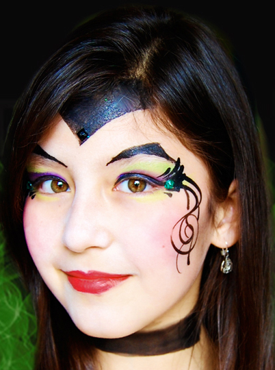 MALEFICENT Face Paint Design Video Tutorial