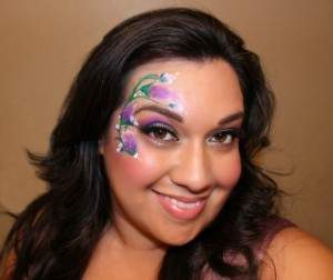 Spring Floral Face Paint Design by Shawna Del Real