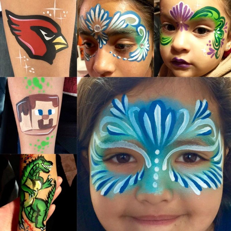 Lidia Ochoa face paints