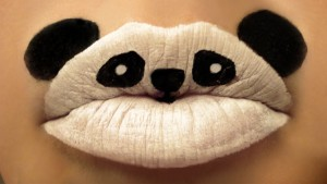 Panda Lip Art by Paige Thompson
