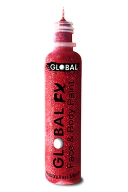 Global FX Glitter Gel - Red 36ml/1.2oz