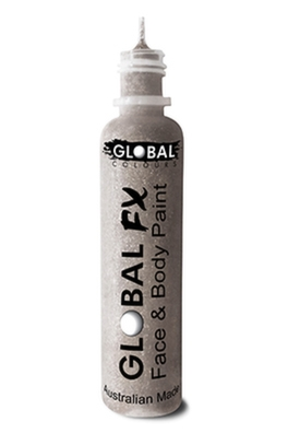 Global FX Glitter Gel - Holographic Silver 36ml/1.2oz