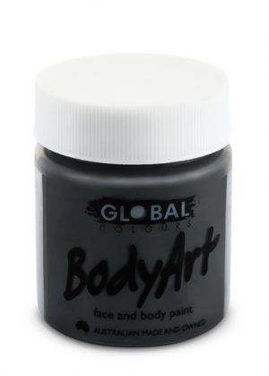 Global Body Art Face Paint - Liquid Black 45ml