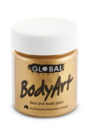 Global Body Art Face Paint - Liquid Gold 45ml