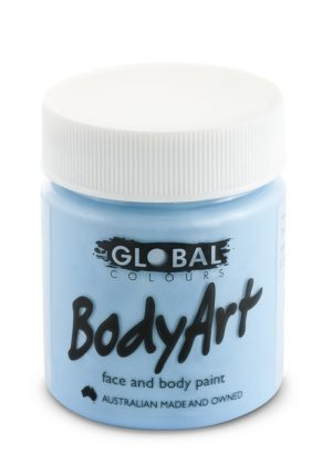 Global Body Art Face Paint - Liquid Light Blue 45ml