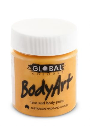 Global Body Art Face Paint - Liquid Orange 45ml
