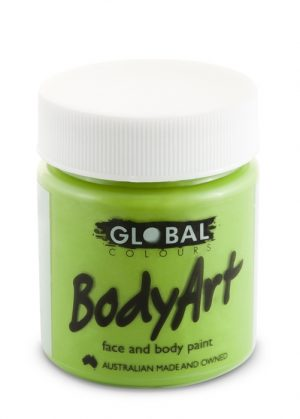 Global Body Art Face Paint - Liquid Green Light 45ml