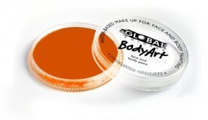 Global Body Art Face Paint - Neon Orange 32gr
