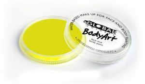 Global Body Art Face Paint - Neon Yellow 32gr