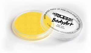 Global Body Art Face Paint - Pearl Yellow 32gr