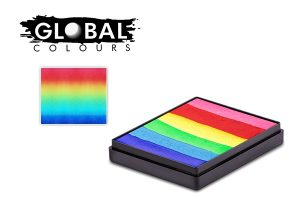 Global Body Art  Face Paint - Rainbow Cake Bright Rainbow 50gr
