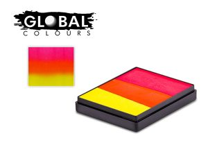 Global Body Art Face Paint - Rainbow Cake India 50gr