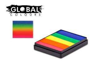 Global Body Art Face Paint - Rainbow Cake Neon Rainbow 50gr