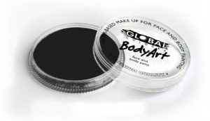 Global Body Art Face Paint - Standard Soft Black 32gr
