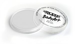 Global Body Art Face Paint - Standard White 32gr