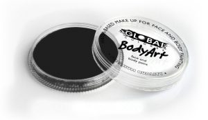 Global Body Art Face Paint - Standard Strong Black (NEW) 32gr
