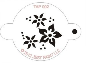 TAP 002 Face Painting Stencil - Flowers