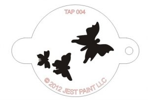 TAP 004 Face Painting Stencil - Butterflies