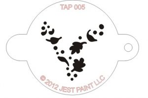 TAP 005 Face Painting Stencil - Wind Dust