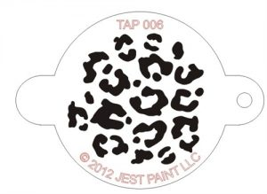 TAP 006 Face Painting Stencil - Animal Print