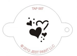 TAP 007 Face Painting Stencil - Hearts
