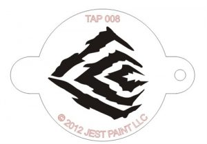TAP 008 Face Painting Stencil - Tiger Stripes