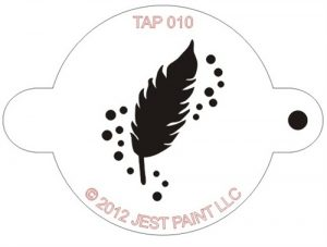 TAP 010 Face Painting Stencil - Feather