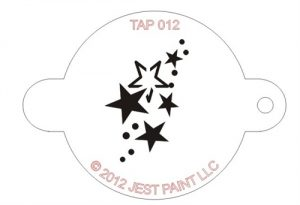 TAP 012 Face Painting Stencil - Stars