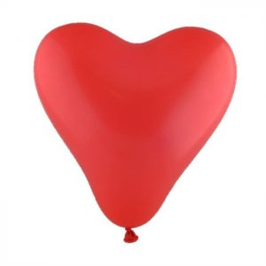 "Prolloon Balloons - 6"" Hearts 100ct - RED"