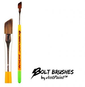BOLT Face Painting Brushes by Jest Paint – Small FIRM Angle